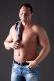 Adult muscular man Royalty Free Stock Image