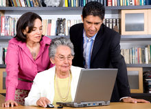 Adult online education Stock Images