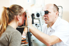 Adult  ophthalmology or optometry Stock Image