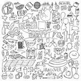 Adult Party Doodle Set Royalty Free Stock Photos
