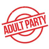 Adult Party rubber stamp Stock Photo