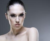 Adult pretty woman stylish portrait. Royalty Free Stock Image