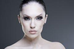 Adult pretty woman stylish portrait. Royalty Free Stock Photos