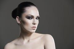 Adult pretty woman stylish portrait. Royalty Free Stock Photography