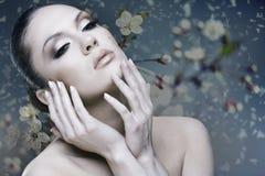 Adult pretty woman stylish portrait Stock Images