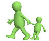 Adult, pulling for a hand of the small child Royalty Free Stock Photo
