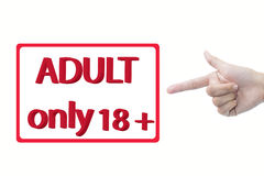 Adult only 18+ Royalty Free Stock Photos