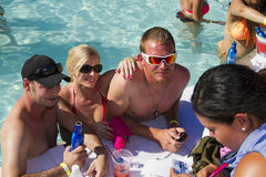 Adult Resort Pool Party Holiday Fun Stock Images