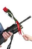 Adult Rifle Child Rose Stock Photography