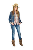 Adult Sexy Woman on Jeans Royalty Free Stock Image