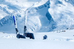 Adult skier Royalty Free Stock Image