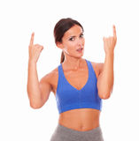 Adult sporty woman looking at you Stock Photography