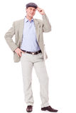 Adult successful smiling man in casual business outfit isolated Stock Images