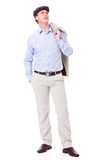 Adult successful smiling man in casual business outfit isolated Stock Photos