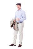 Adult successful smiling man in casual business outfit isolated Royalty Free Stock Photography