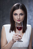adult tasting wine Royalty Free Stock Image
