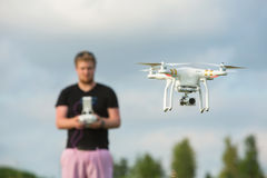 Adult Using Camera Drone Royalty Free Stock Images