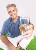 Adult water portrait. Royalty Free Stock Photos