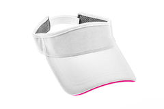 Adult white golf visor for man or woman Royalty Free Stock Photos