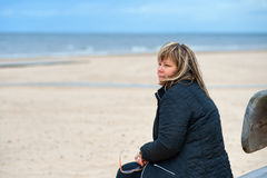 Adult Woman At The Sea Royalty Free Stock Image