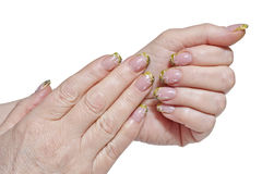 Adult woman hands nails Stock Photos