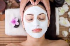 Adult woman having beauty treatments in the spa salon Stock Photos