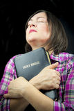 Adult woman praying Royalty Free Stock Photography