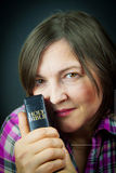Adult Woman Reading a Bible Royalty Free Stock Photos