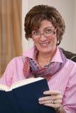 Adult woman reading Stock Photos