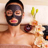 Adult woman relaxing in spa salon Stock Image