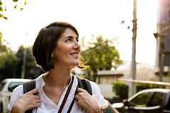 Adult Woman Travel Backpacker Tourist Stock Photos