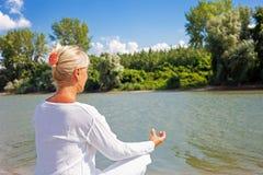 Adult woman yoga Stock Photos