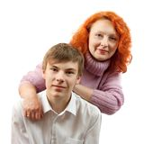Adult women and teen boy Royalty Free Stock Photography