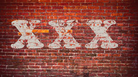 Adult only. XXX (adult only)on brick wall Royalty Free Stock Photo