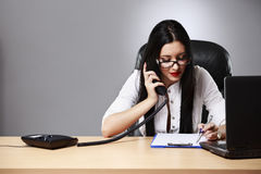 Adult young pretty business woman royalty free stock photography