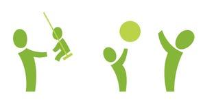 Adulte et enfant 2 Images libres de droits