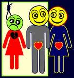 adulterer illustrazione vettoriale