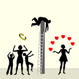 Adultery stock illustration