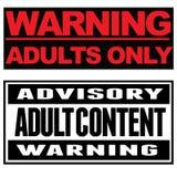 Adultes seulement illustration libre de droits
