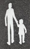 Adulto con el niño Foto de archivo libre de regalías