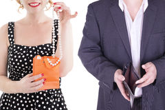 Adulto de los pares aislado en el fondo blanco Imagen de archivo libre de regalías