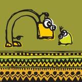 Adulto e bambino di comunicazione Illustrazione Vettoriale