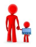 Adulto e criança abstratos Imagens de Stock Royalty Free