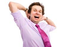 Adulto en estirar de la camisa y del lazo Foto de archivo libre de regalías