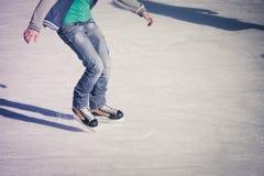 Adulto en la pista de hielo Imagen de archivo libre de regalías