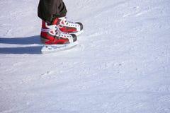 Adulto en la pista de hielo Foto de archivo libre de regalías