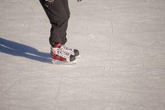 Adulto en la pista de hielo Imágenes de archivo libres de regalías