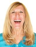 Adulto femenino de risa Fotos de archivo libres de regalías