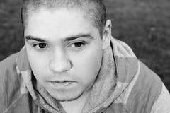 Adulto joven con el corte del boxeador Imagen de archivo libre de regalías