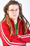Adulto joven con los dreadlocks Imágenes de archivo libres de regalías